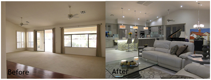 Before and after modern home remodel photos