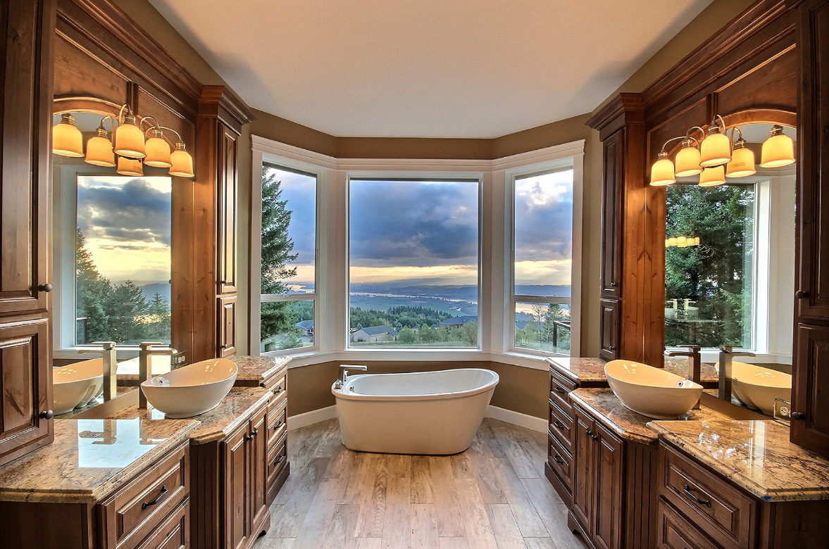 Beautiful bathroom in a traditional home