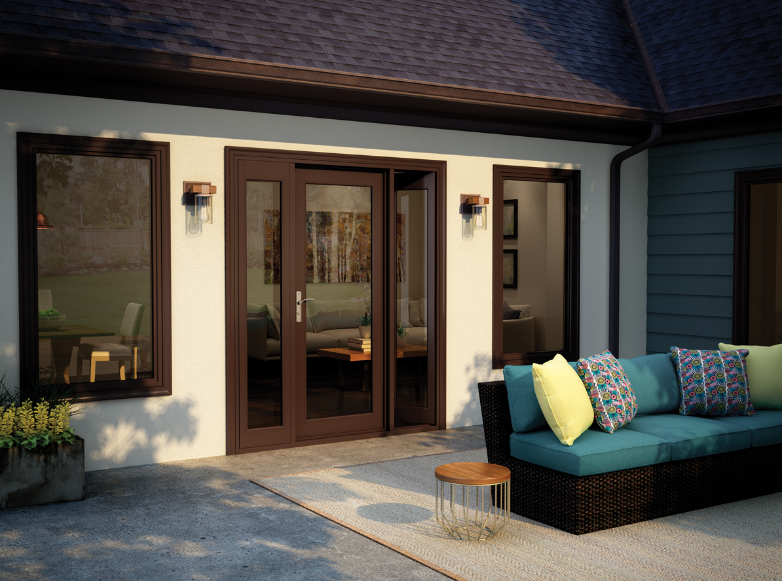 Using French patio doors for indoor outdoor living