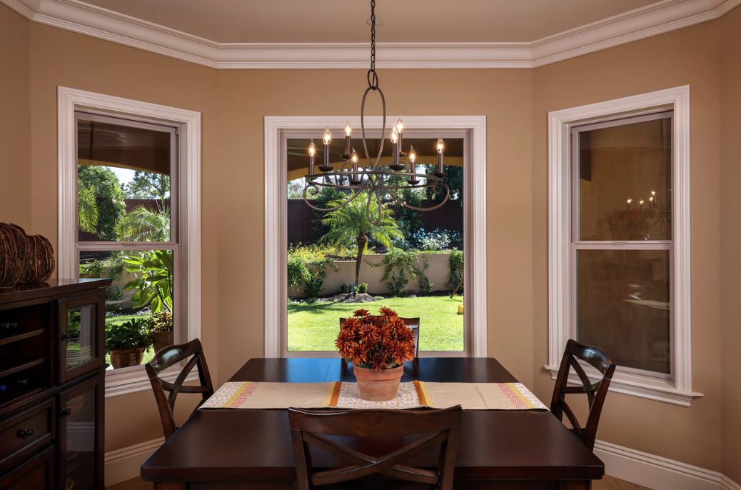 Beautiful energy efficient Tan Vinyl Windows