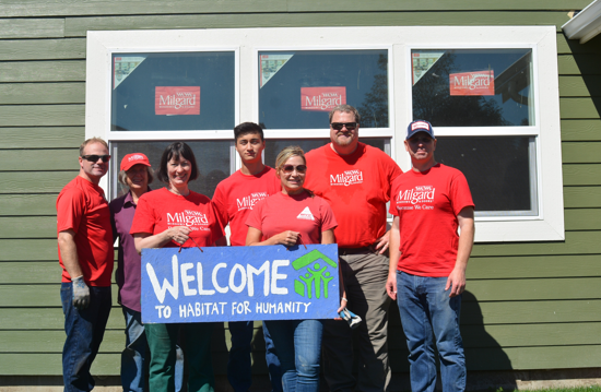 Milgard Windows & Doors on Habitat Build Day