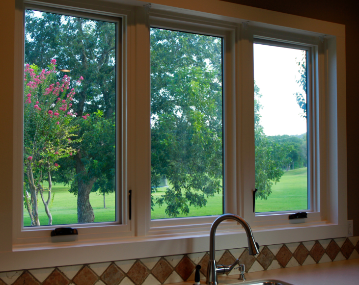 A Wood Window with a Fiberglass Frame