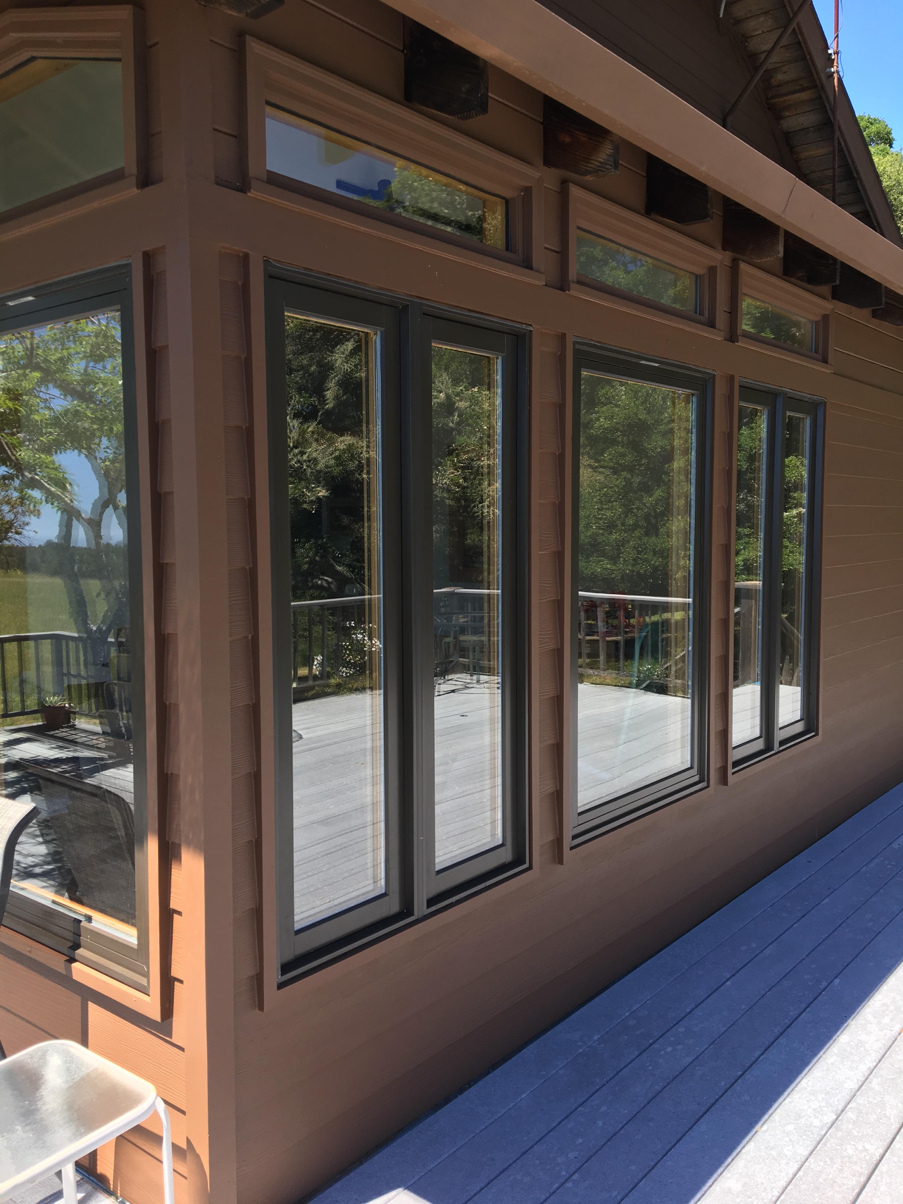 Energy efficient wood windows upgrade a country cabin for Milgard energy efficient windows