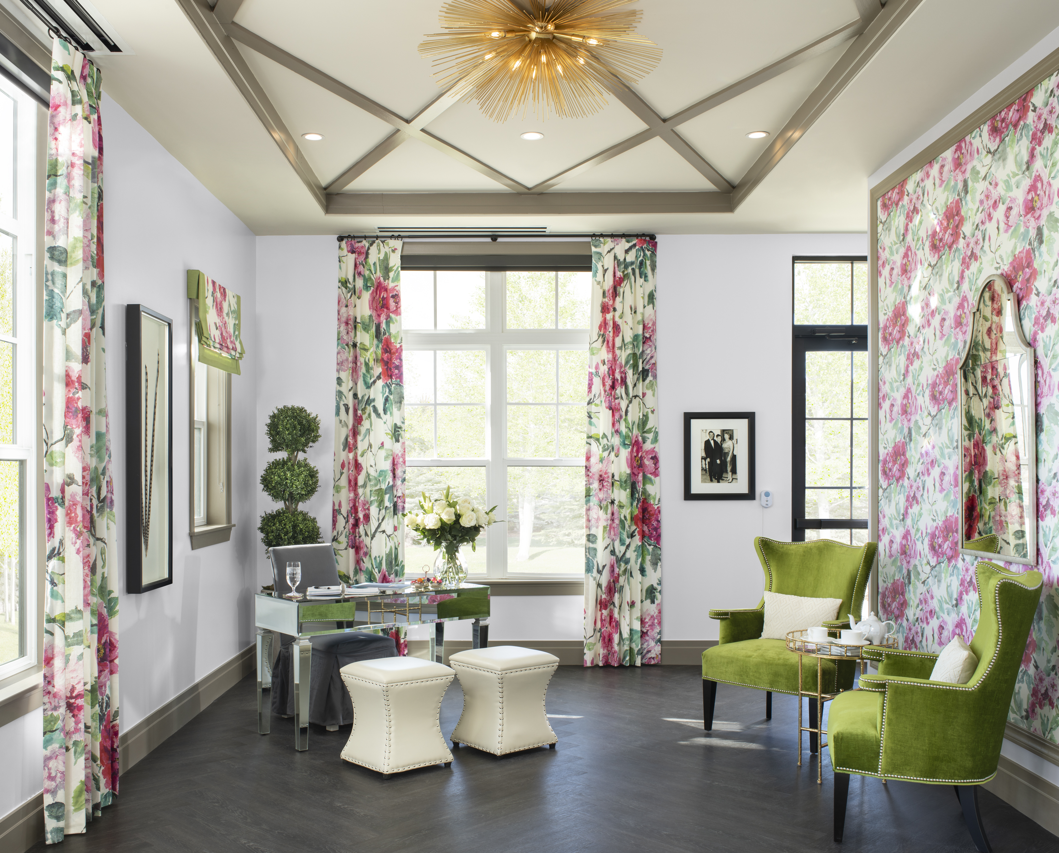 Colorful floral interiors