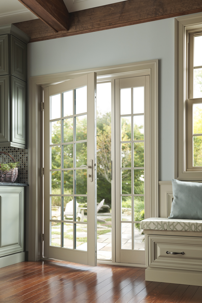 French out swing patio door wood vinyl fiberglass for French doors with side windows that open