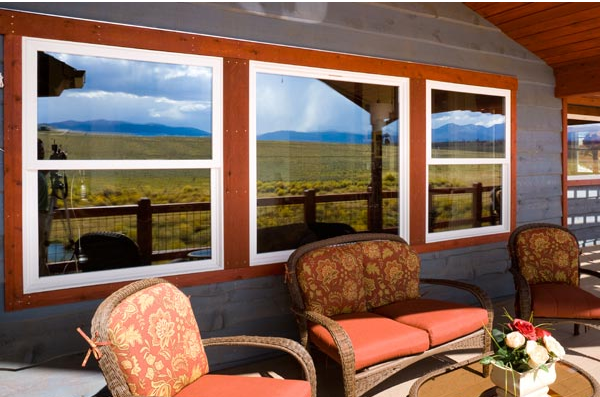 Tuscany Series single hung picture window combo