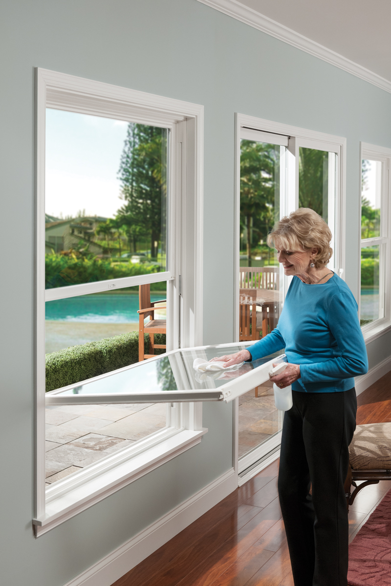 how to open easy clean windows