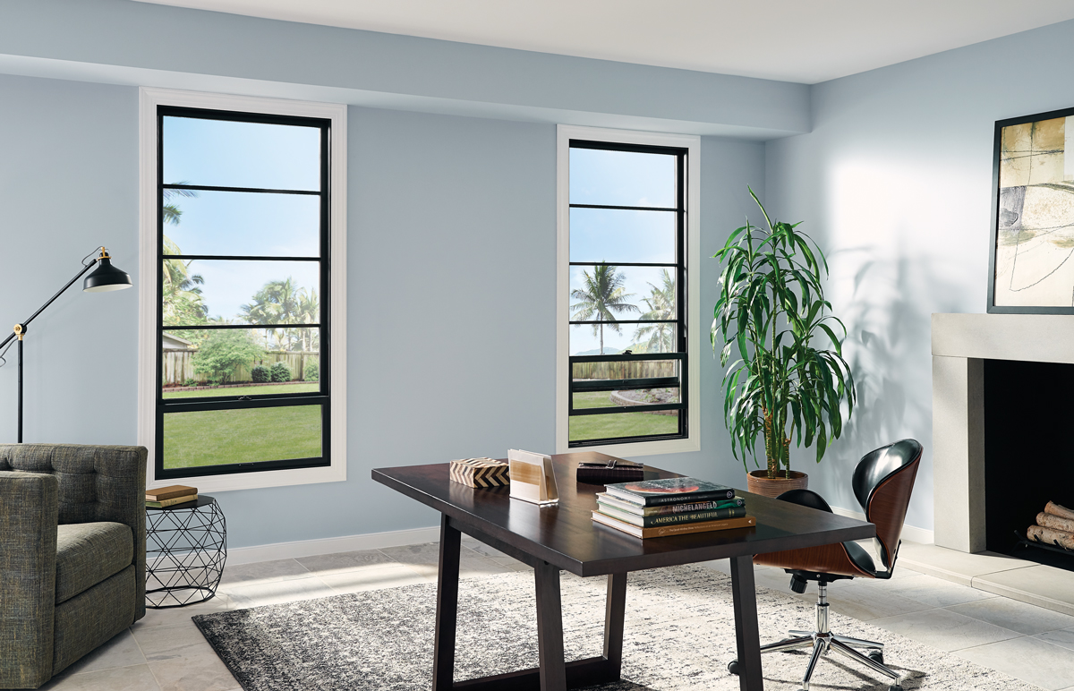 Black Bean Fiberglass Windows